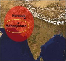 Area di diffusione della civiltà dell'indo